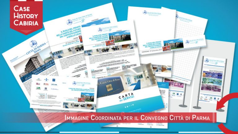 Immagine coordinata per il 55° della Clinica Città di Parma