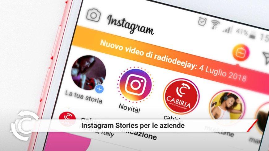 instagram stories per le aziende