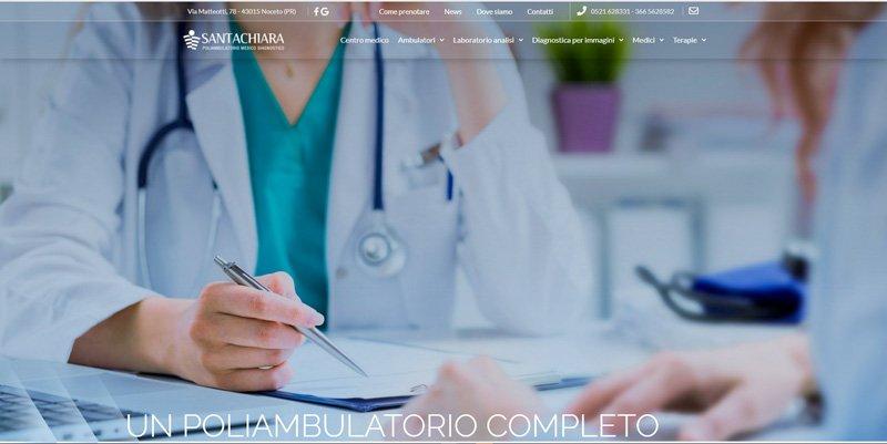 poliambulatorio santa chira sito web agency parma cabiria