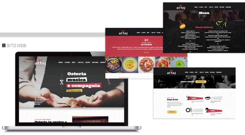 sito web artaj osteria web agency cabiria parma