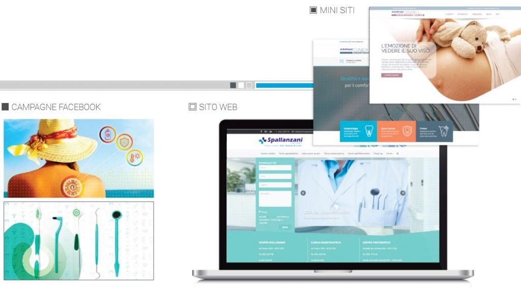 sito web centro medico spallanzani web agency cabiria parma