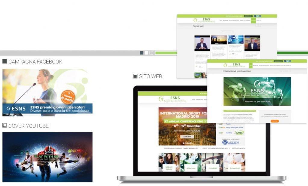 sito web esns european sport nutrition society web agency cabiria parma