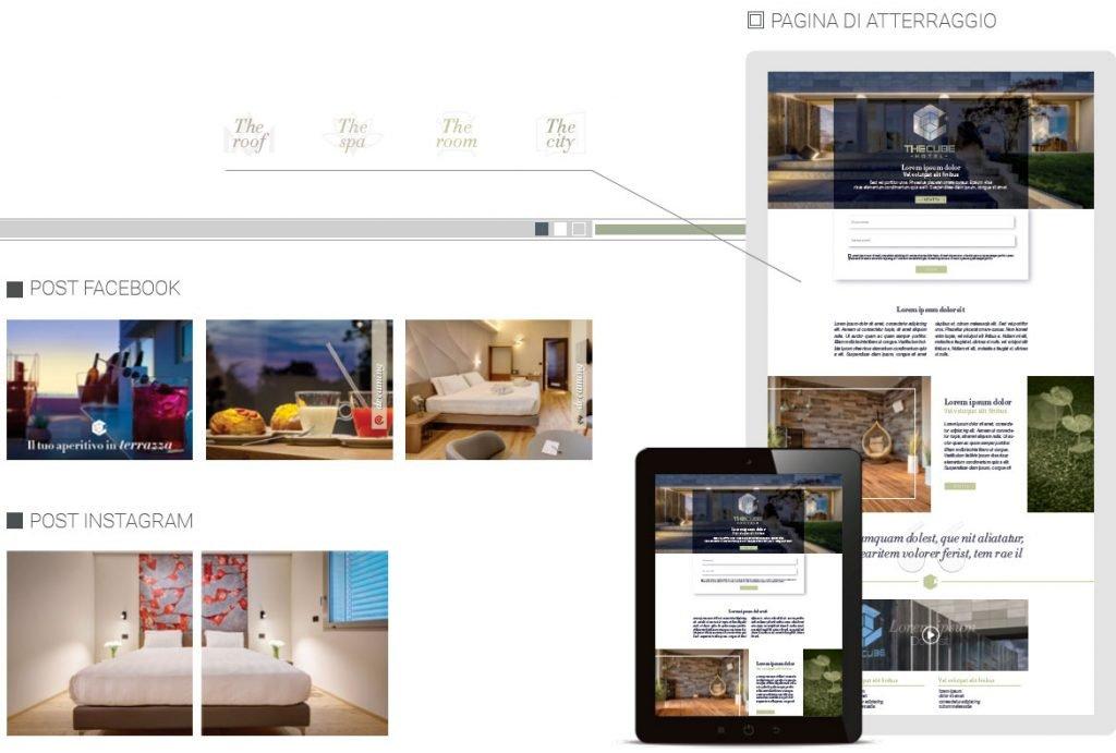 sito web the cube hotel web agency cabiria parma